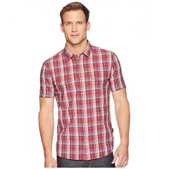 UJCIMLP John Varvatos Star U.S.A. Short Sleeve Shirt with Chest Pockets W519U1B Crimson 9081349