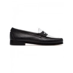 Re/Done flat monochrome lizard loafers blk/white Leather 100% 7119005