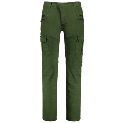 Zips Biker Pants With Multi Pockets - Green 2xl GREEN Casual 214940305
